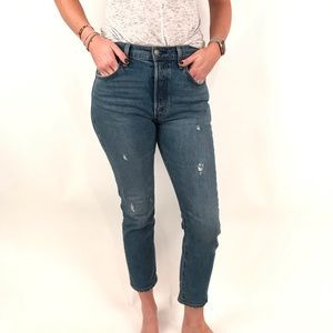 Levi's 501 high rise cropped jean